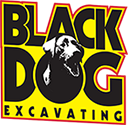 Black Dog Excavating Logo